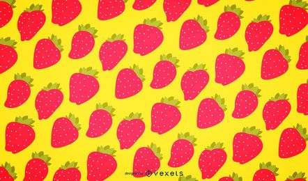 Seamless strawberry pattern background