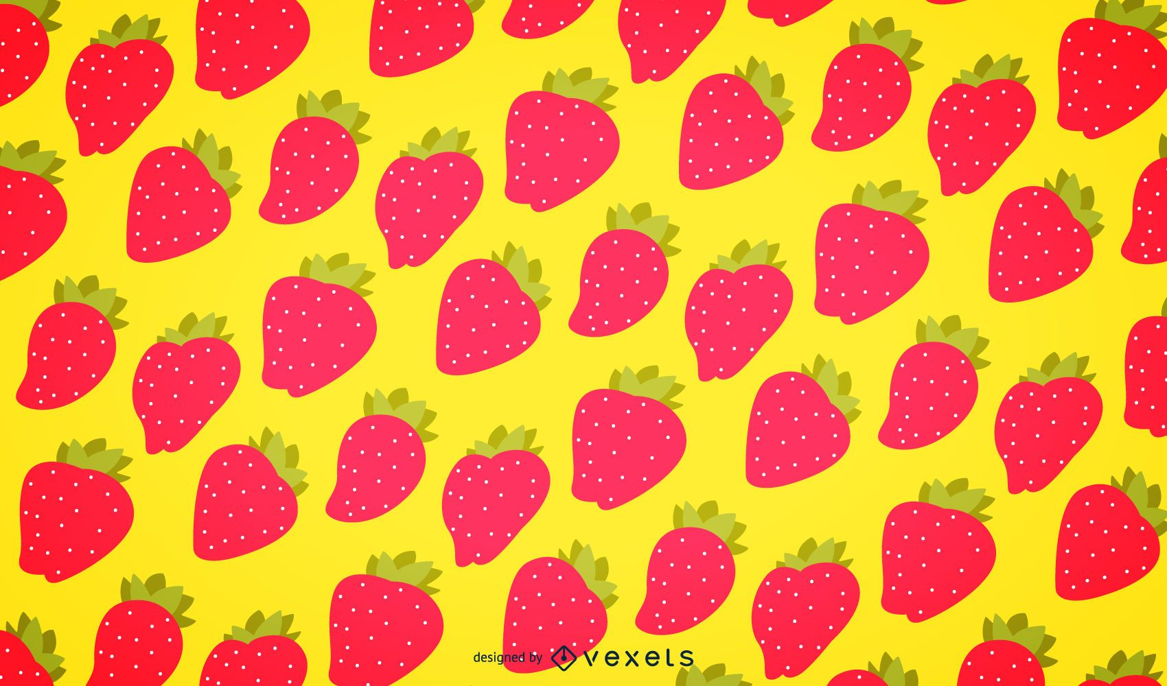Seamless Strawberry Pattern Background Vector Download