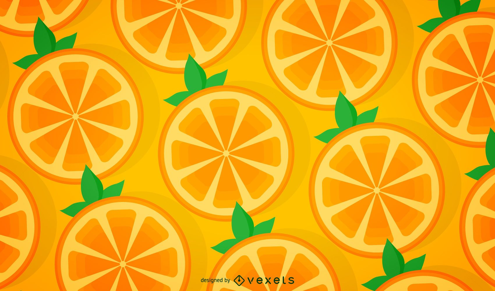 Seamless orange pattern