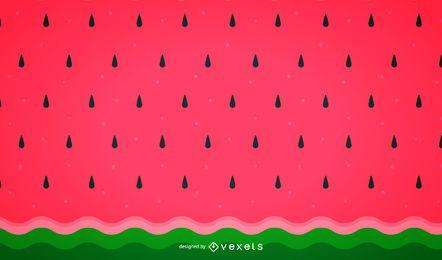 Padrão de fundo minimalista de melancia