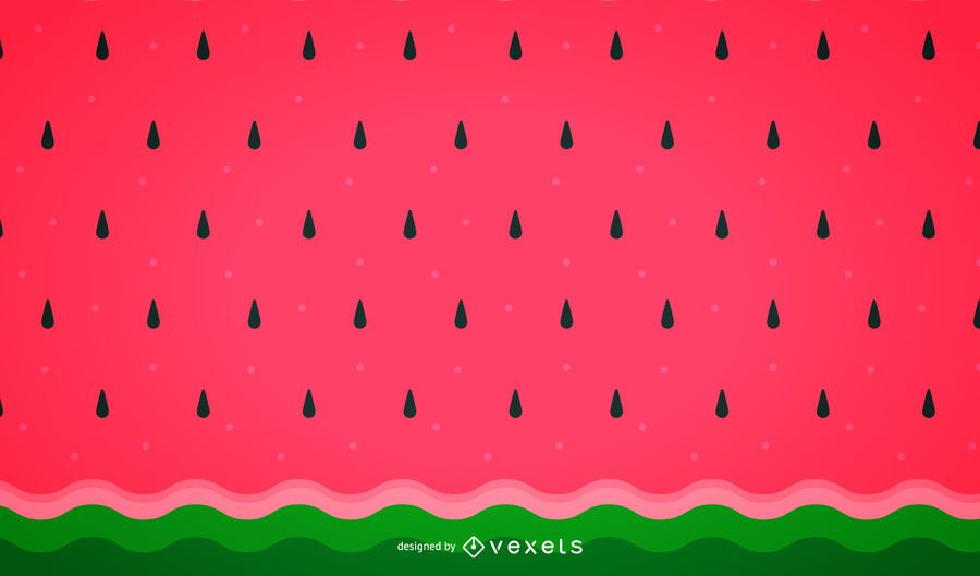 Minimalist watermelon background pattern