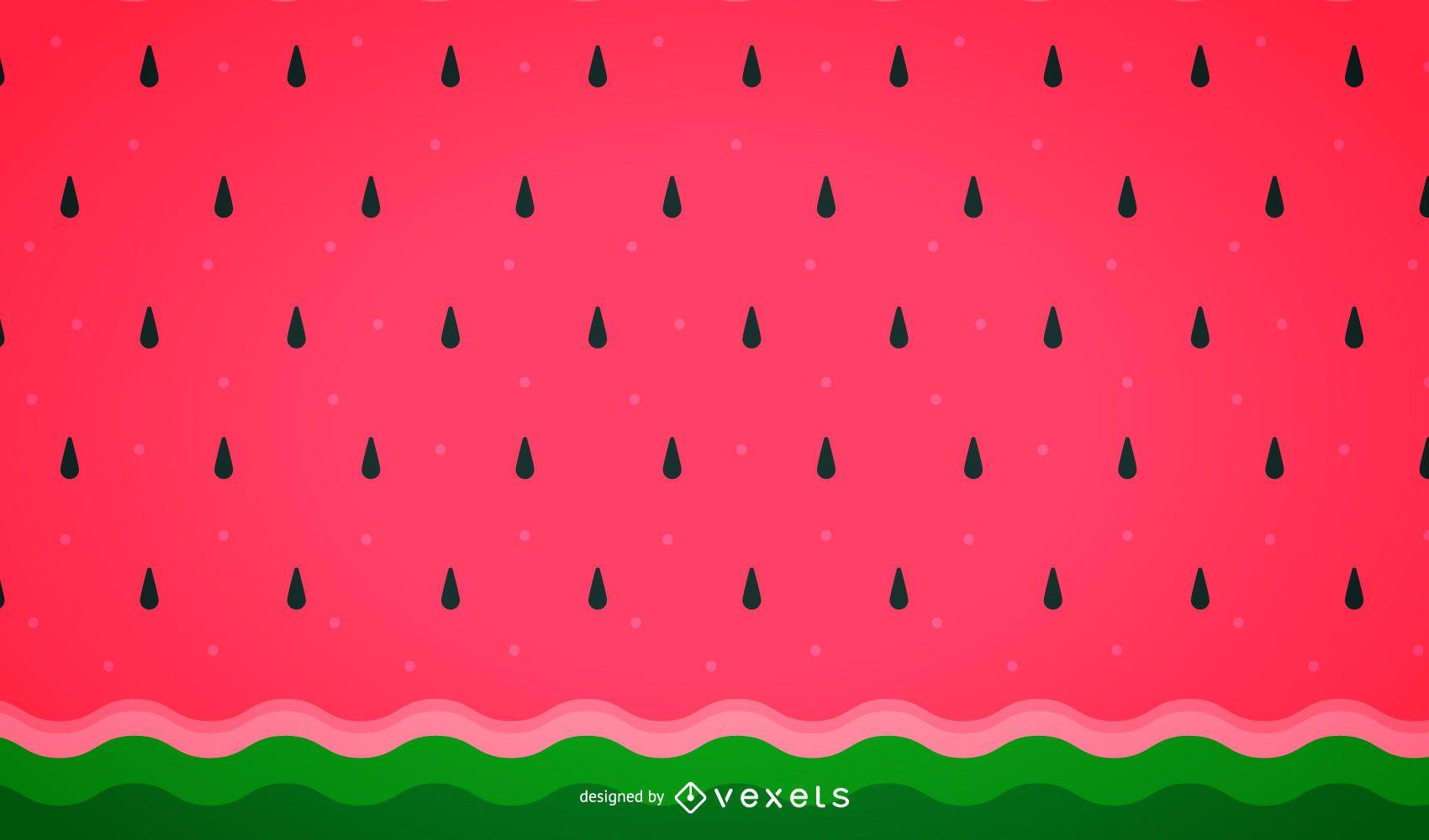 Minimalist watermelon background pattern