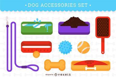 Conjunto de acessórios para cães