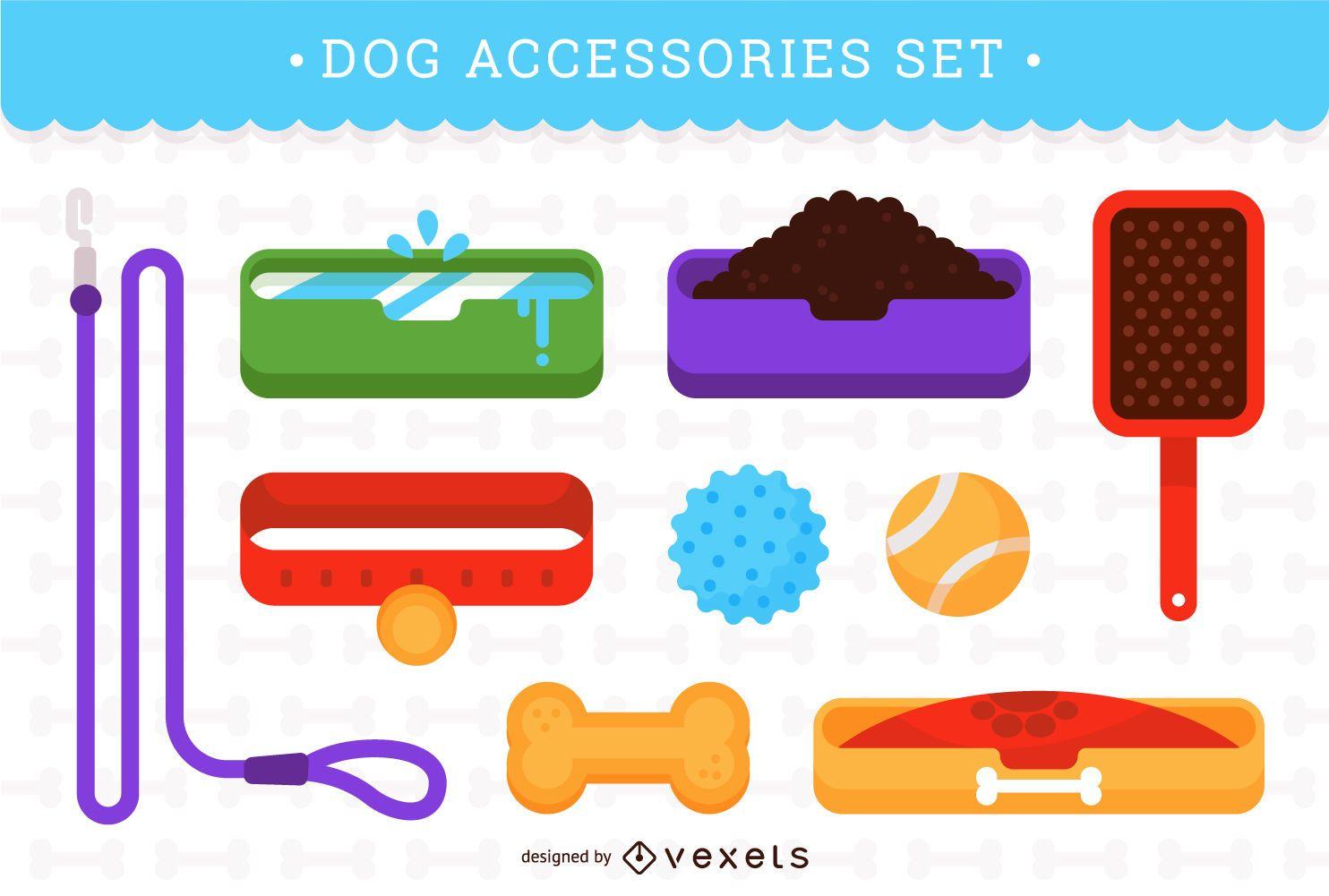 Dog accessories set
