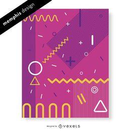 Diseño abstracto rosado de Memphis