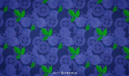Blaubeer-Musterdesign