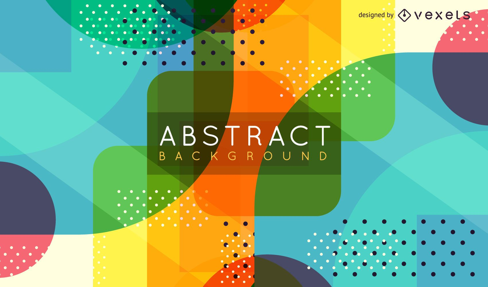 Abstract geometric background with dots