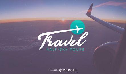 Design de modelo de logotipo de viagem