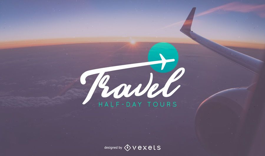 Travel logo template design - Vector download