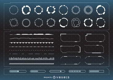 Colección de elementos de interfaz futurista