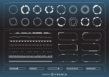 Futuristic interface assets collection
