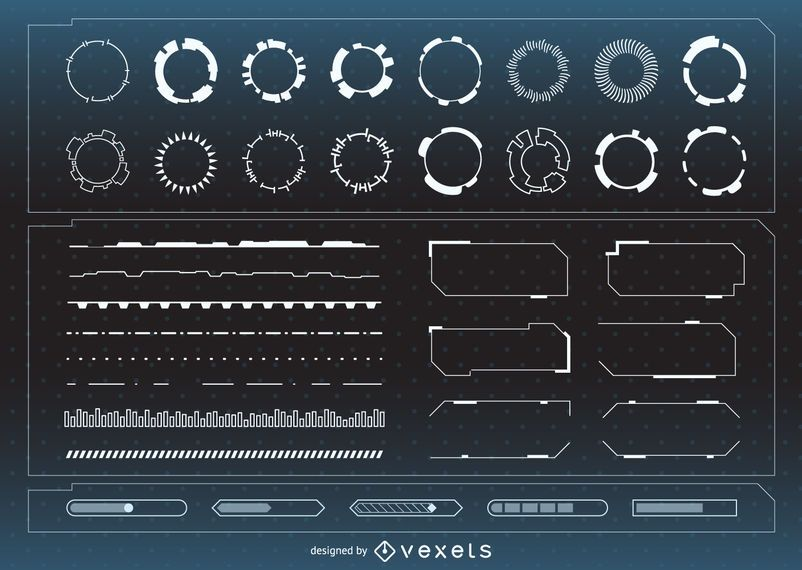 Coleção de ativos de interface futurista