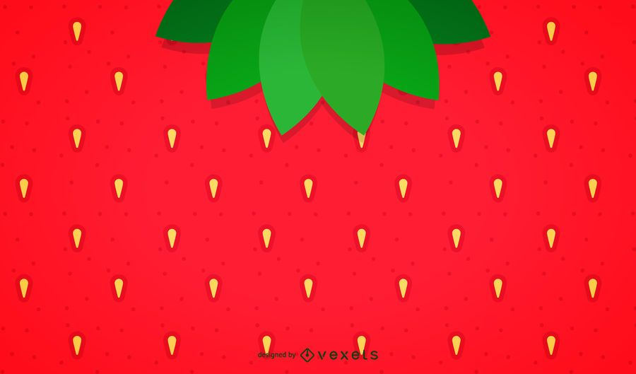 Minimalist strawberry background