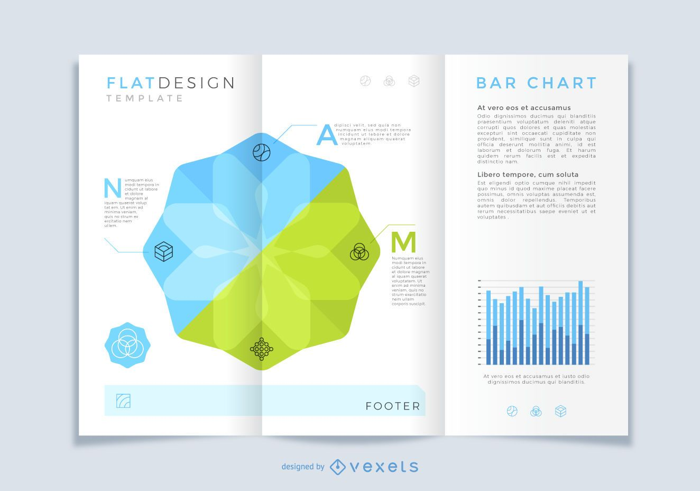 Projeto de folheto infográfico