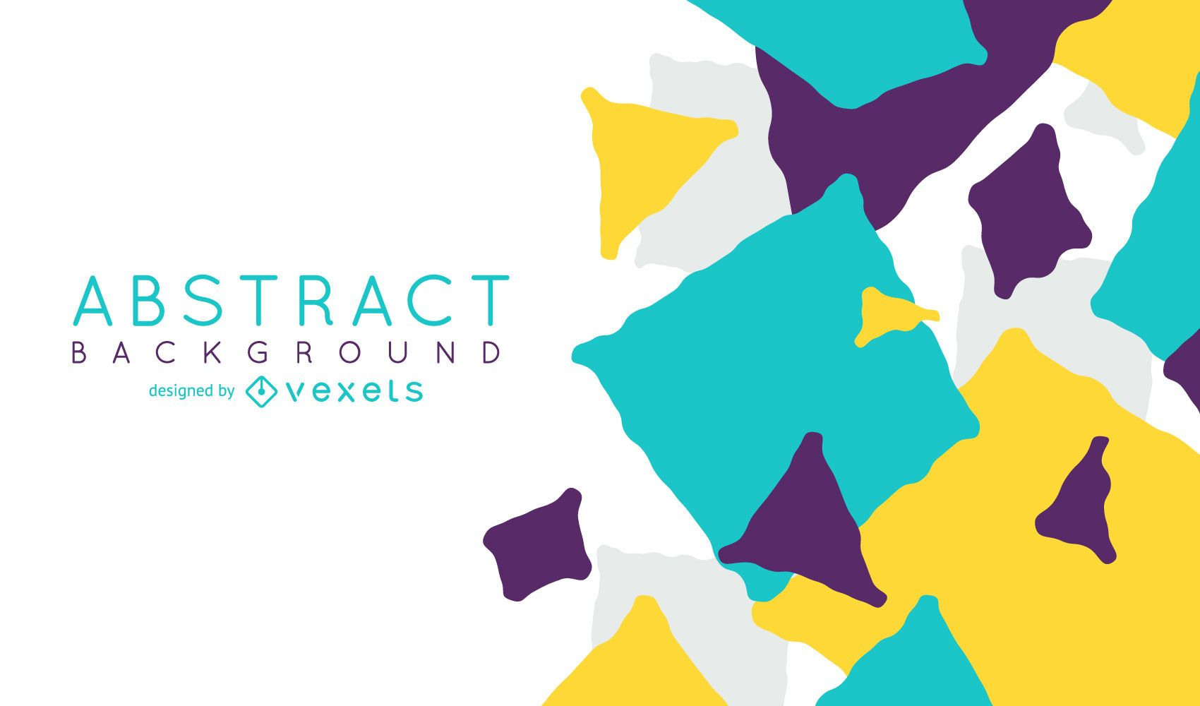 Background design with abstract shapes