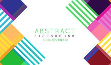 Colorido fondo abstracto con rayas