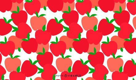 Patrón de manzanas sin costura