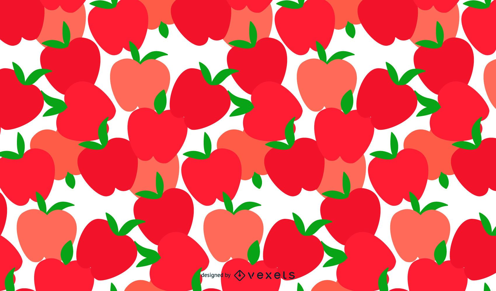 Patrón de manzanas sin costuras