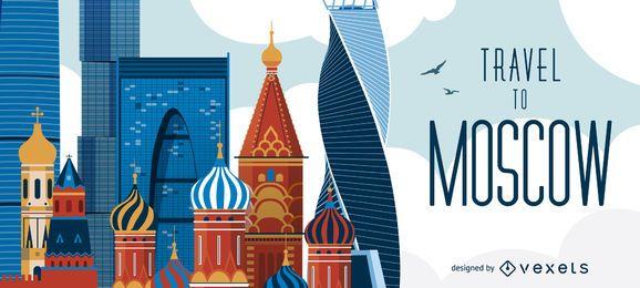 Viajar para o horizonte de Moscou