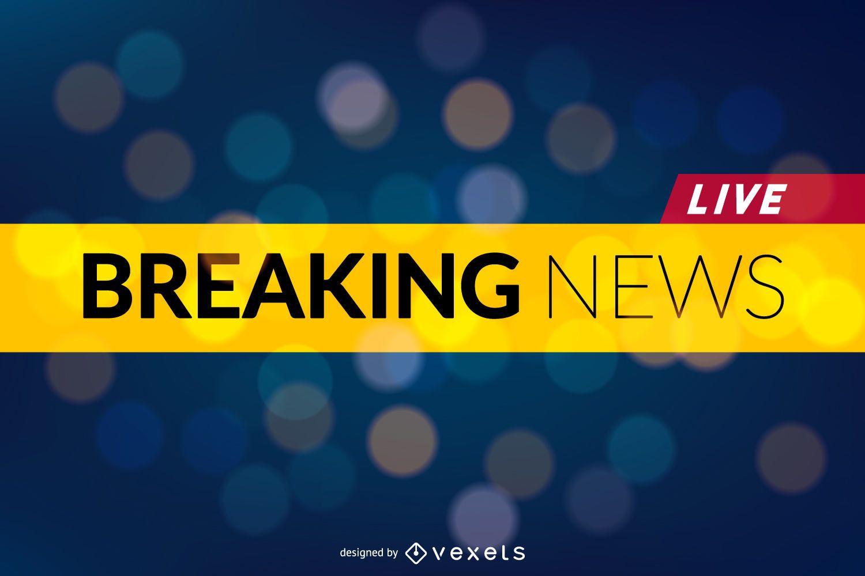 Cabeçalho do banner do Breaking News