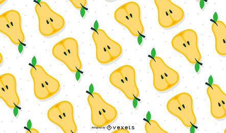 Seamless pears pattern background