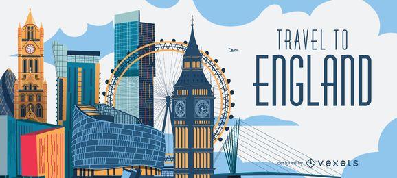 Viagem para o horizonte da Inglaterra Londres