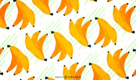 Illustrated bananas seamless pattern