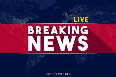 Cabeçalho de banner do mundo Breaking News