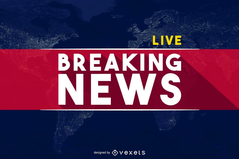 World Breaking News banner header