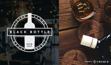 Molde do logotipo da loja de bebidas alcoólicas