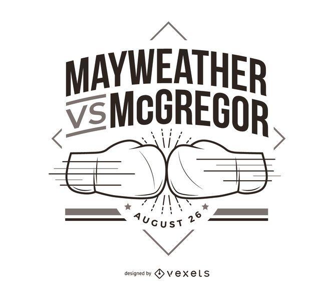 Mayweather vs McGregor luta de boxe