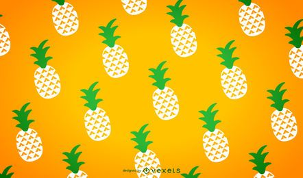 Illustrated seamless pineapple patterns