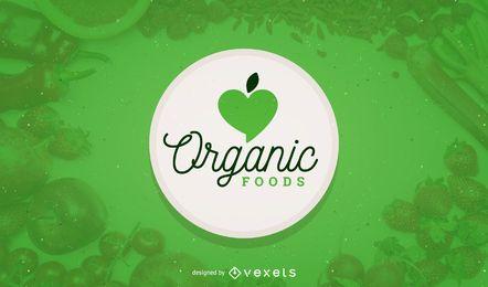 Modelo de logotipo de comida orgânica