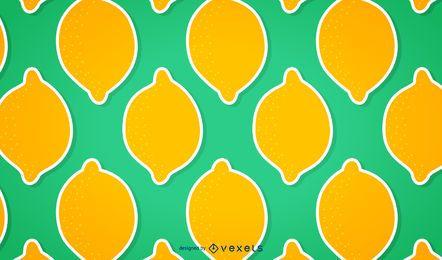 Patrón de limón sin costura