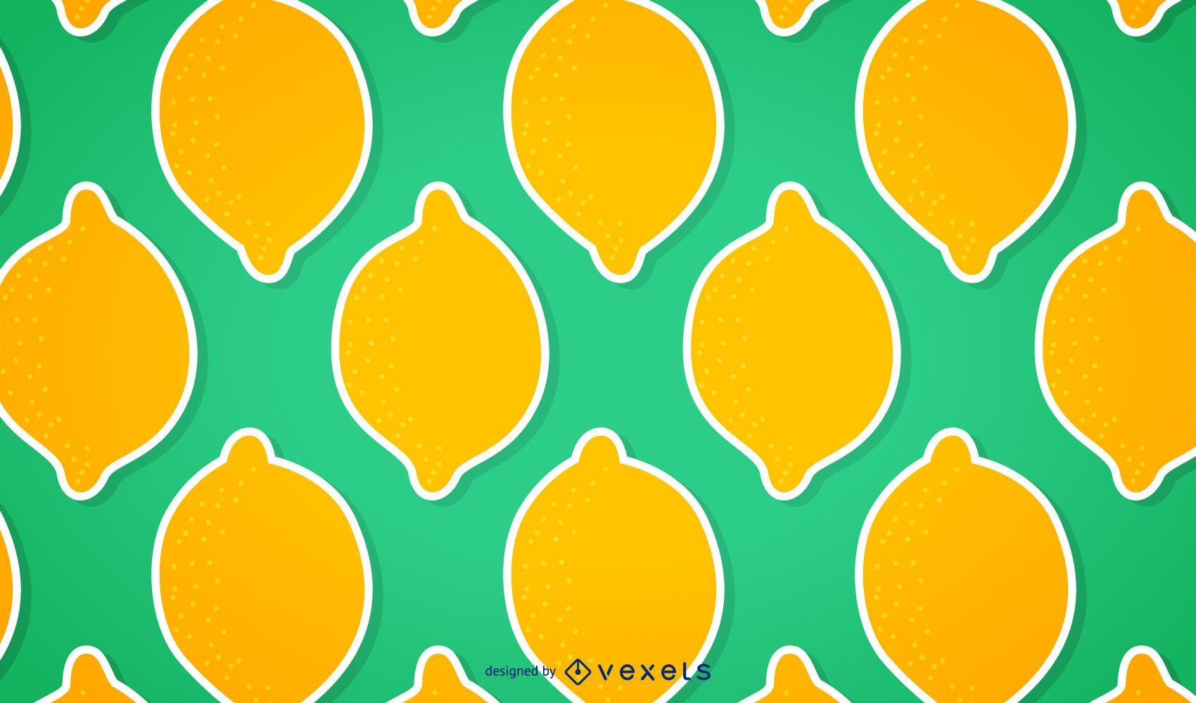Patrón de limón transparente
