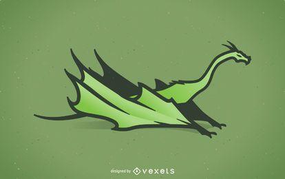 Ilustração de dragão verde