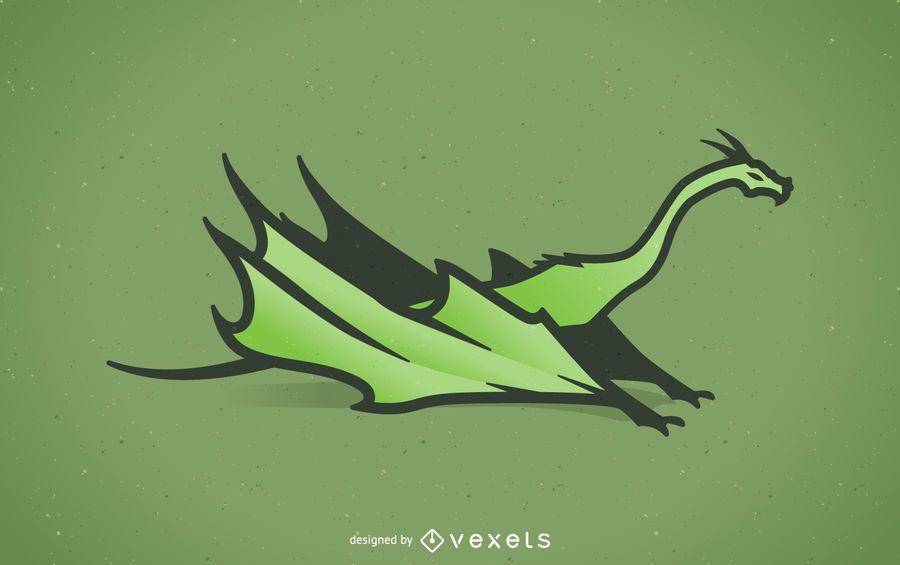 Grüner Drache Abbildung