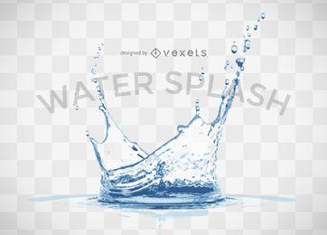 Respingo de água realista