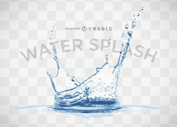Respingos de água realistas
