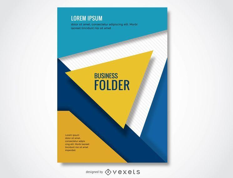 Colorful business folder design
