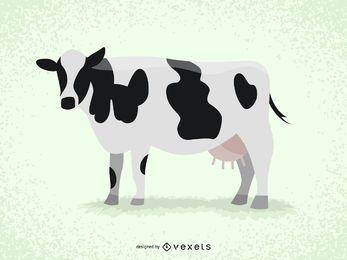 Ilustración de la vaca aislada