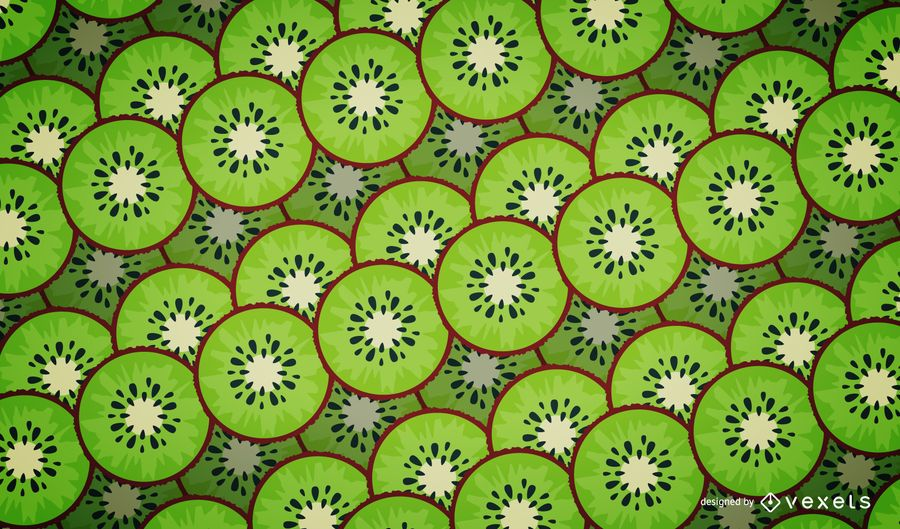 Illustrated kiwi pattern design