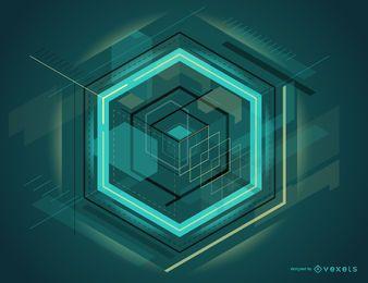 Futuristisches abstraktes Design