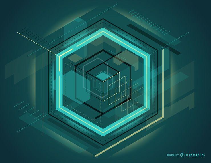 Projeto abstrato futurista