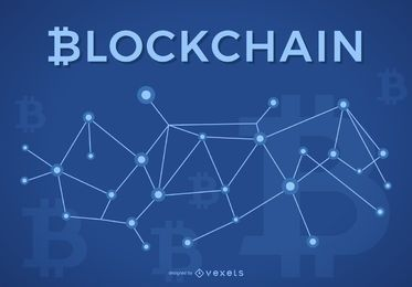 Projeto Blockchain com logotipo Bitcoin