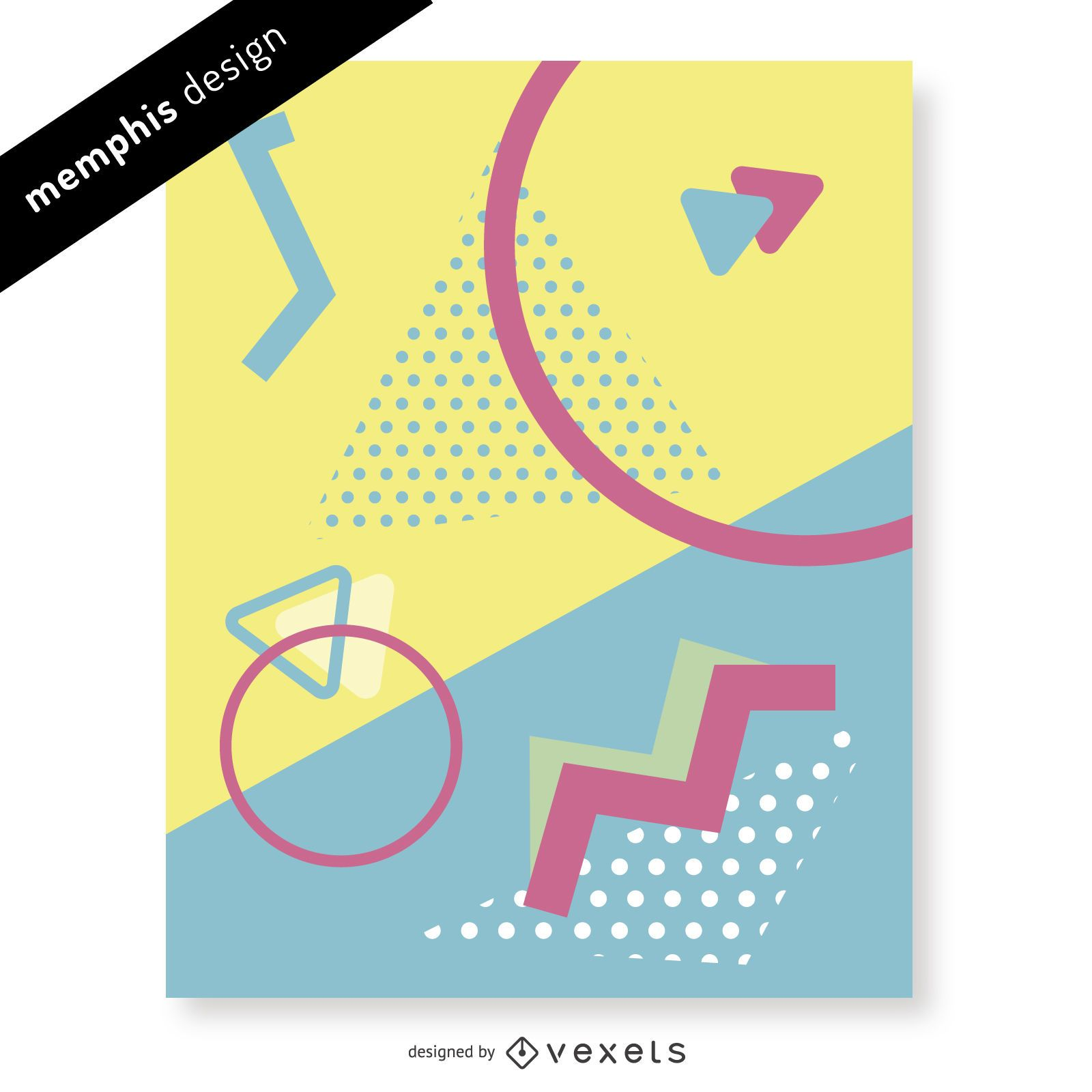 90s memphis geometric design
