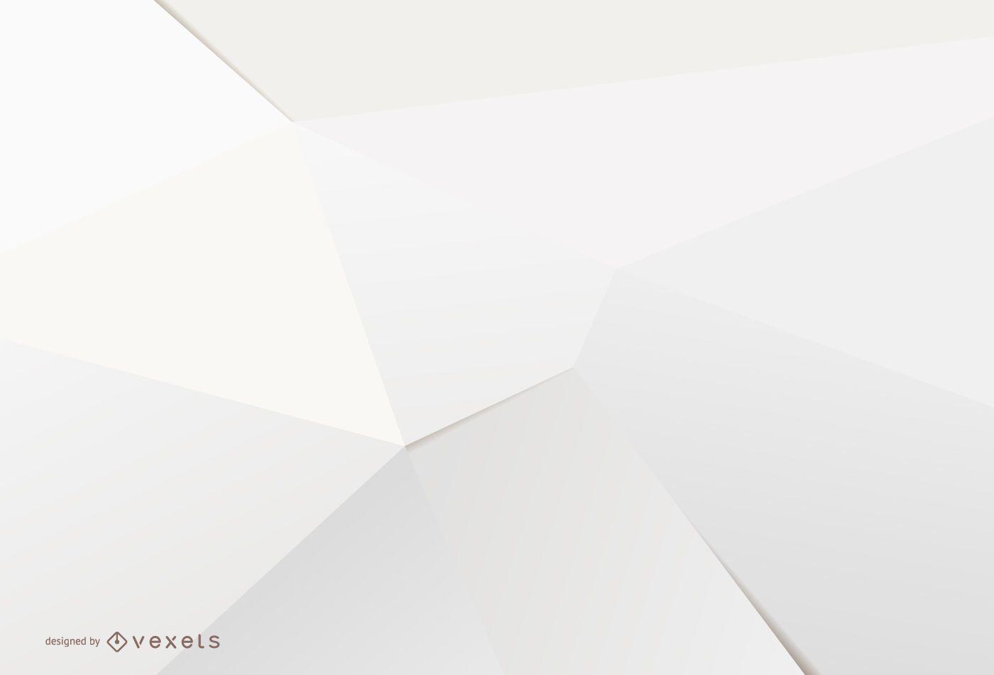 Minimalist 3D white background