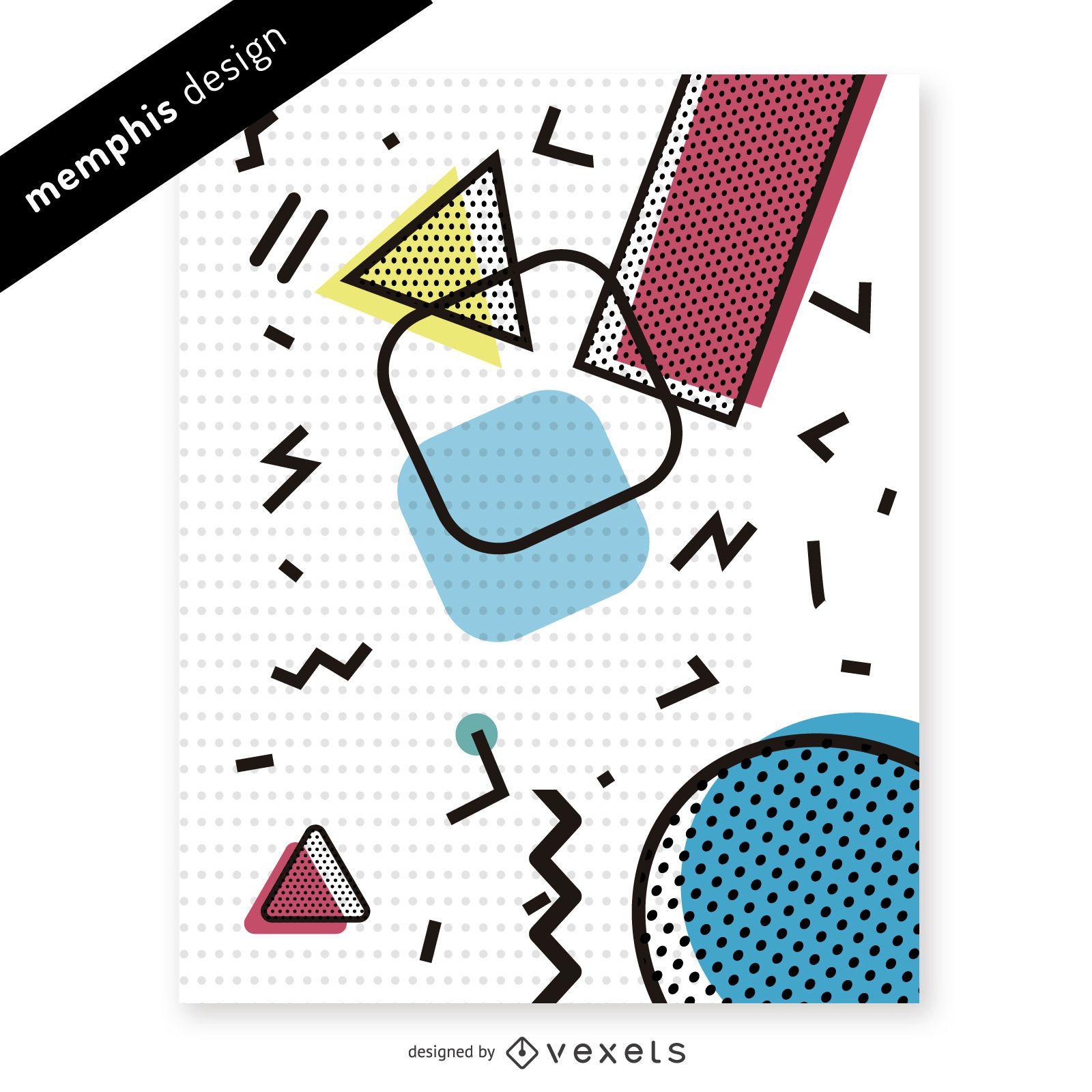 Colorful 90s memphis pattern design