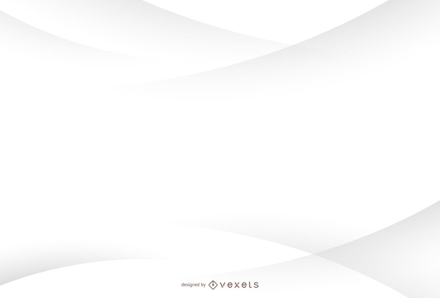 Minimalist white background with curves