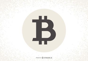 Diseño de la etiqueta del logotipo de Bitcoin